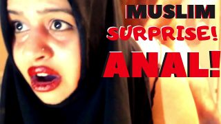 BBW Big ass Muslim surprise anal sex
